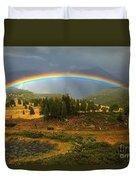 San Juan Mountains Rainbow Duvet Cover