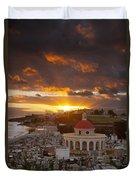 San Juan Sunrise Duvet Cover