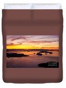 San Juans Sunset Duvet Cover