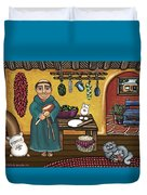 San Pascuals Kitchen Duvet Cover by Victoria De Almeida