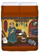 San Pascuals Kitchen Duvet Cover by Victoria De Almeida