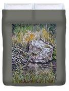San Poil River Rock Duvet Cover