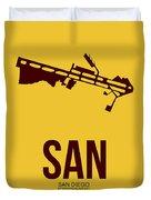 San San Diego Airport Poster 1 Duvet Cover