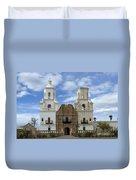 San Xavier Del Bac Mission Facade Duvet Cover