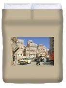 Sanaa Old Town In Yemen Duvet Cover