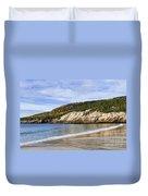 Sand Beach Acadia Duvet Cover