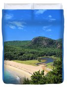 Sand Beach And The Beehive Duvet Cover