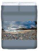 Sand Beach At Acadia Duvet Cover