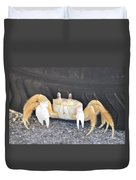 Sand Crab Up Against The Sidewall Duvet Cover