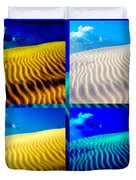 Sand Dunes Collage Duvet Cover