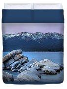 Sand Harbor Rocks Duvet Cover
