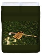 Sand Lot Baseball Duvet Cover