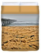 Sand On The Beach Duvet Cover