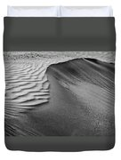 Sand Pattern Abstract - 2 - Black And White Duvet Cover