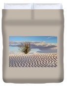 Sand Patterns And The Yucca Duvet Cover