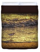 Sand Piper Duvet Cover by Marvin Spates