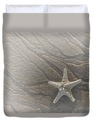 Sand Prints And Starfish II Duvet Cover
