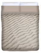 Sand Ripples Natural Abstract Duvet Cover
