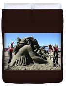 Sand Sculpture 1 Duvet Cover by Bob Christopher