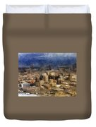 Sand Storm Approaching Phoenix Photo Art Duvet Cover