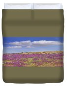 Sand Verbena On The Imperial Sand Dunes Duvet Cover