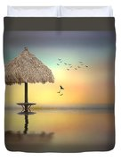 Sandbar Sunset Duvet Cover