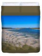 Sandbars On The Fort George River Duvet Cover