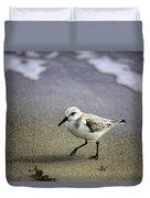 Sanderling On The Shore Duvet Cover
