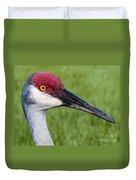 Sandhill Crane Portrait Duvet Cover
