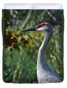 Sandhill Crane Profile Duvet Cover