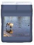Sandhill Crane Vs Alligator Duvet Cover