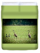 Sandhill Cranes And Friends Duvet Cover