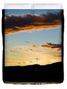 Sandhill Cranes In New Mexico Duvet Cover