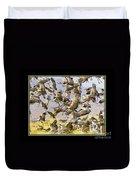 Sandhill Cranes Startled Duvet Cover