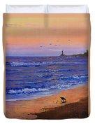 Sandpiper At Sunset Duvet Cover