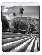 Sandpiper Stairs Bw Palm Desert Duvet Cover by William Dey