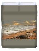 Sandpiper Sunrise Duvet Cover