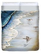 Sandpipers On The Beach Duvet Cover