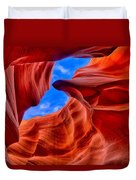 Sandstone Curves In Antelope Canyon Duvet Cover