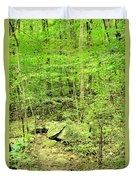 Sandstone Glade Of Shades Mountain Duvet Cover