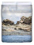 Sandstone Island Sculptures Duvet Cover