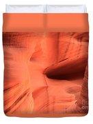 Sandstone  Ledges And Swirls Duvet Cover