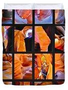 Sandstone Sunsongs Shuffle Assemblage Duvet Cover