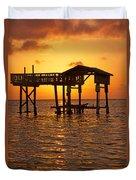 Sandy Bay Sunset Duvet Cover