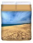sandy beach in Piscinas Duvet Cover