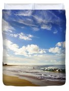 Sandy Beach Morning Rainbow Duvet Cover
