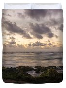 Sandy Beach Sunrise 10 - Oahu Hawaii Duvet Cover