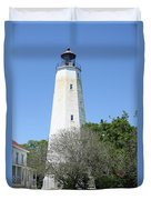 Sandy Hook Lighthouse II Duvet Cover