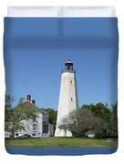 Sandy Hook Lighthouse IIi - N  J Duvet Cover