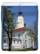 Sandy Hook Lighthouse Iv Duvet Cover